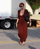 Ashlee Simpson shows very big braless cleavage in Hollywood