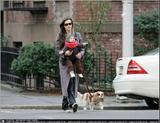 Liv Tyler & son Milo shop for eyewear in West Village