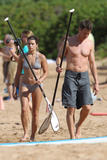 Дэника Патрик, фото 341. Danica Patrick - wearing a bikini on a beach in Hawaii 11/30/11, foto 341