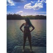 Skye Sweetnam - In A Blue And White Bikini At A Lake In Ontario - Instagram Pic - August 3, 2014 (1xMQ)